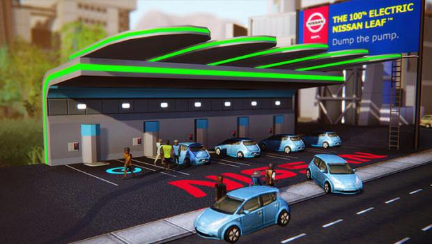 Nissan-Leaf-SimCity