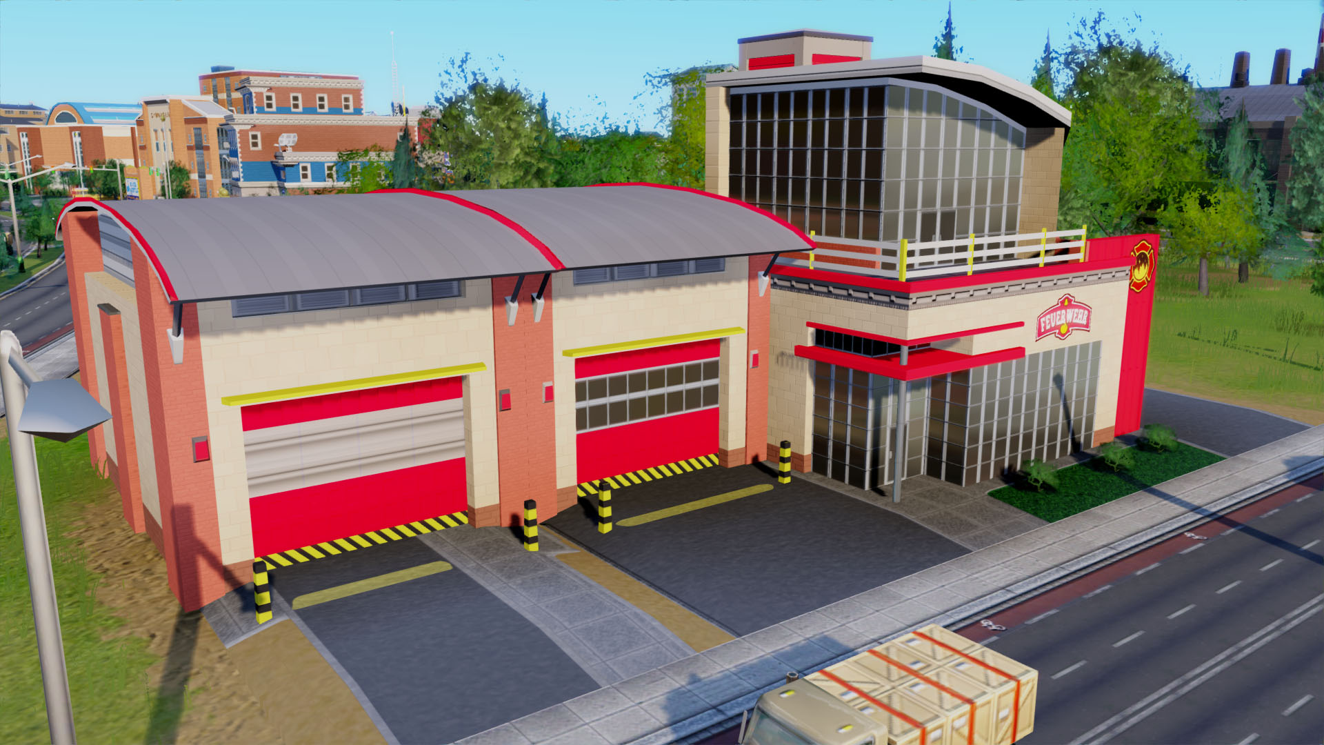 Modern Fire Station Replacement By Tobse Liquid Sims