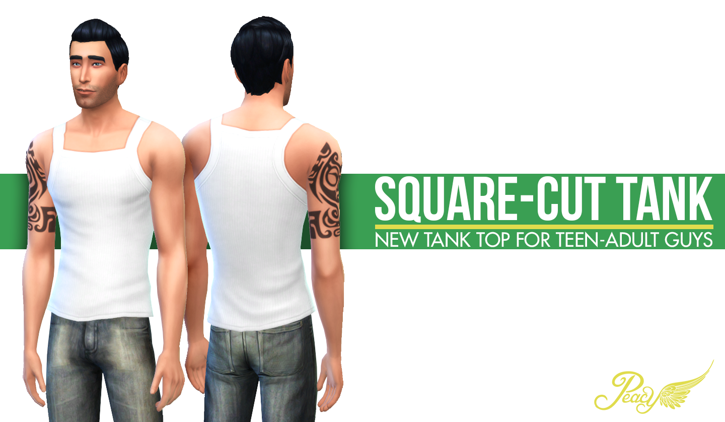 Square Cut Tank Top by Peacemaker Teh Sims : PC Square Cut Tank Top Cover from tehsims.com size 1440 x 838 png 580kB