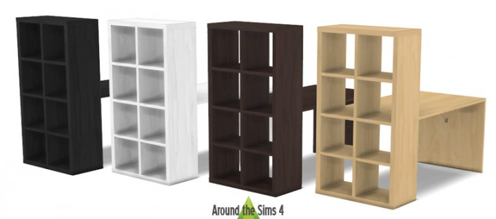ikea expedit storage by sandy liquid sims. Black Bedroom Furniture Sets. Home Design Ideas