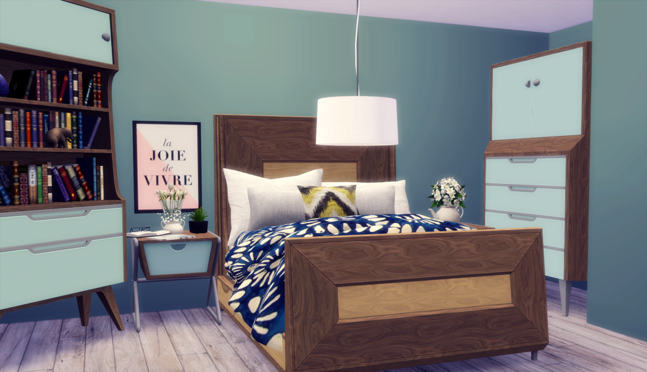 Midmod bedroom conversion by rachel teh sims for 3 bedroom