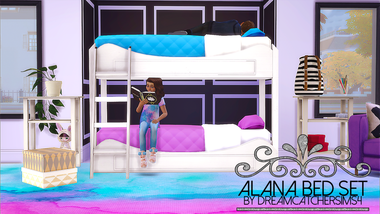 Alana Bed Set by DREAMCATCHERSIMS4 - Teh Sims