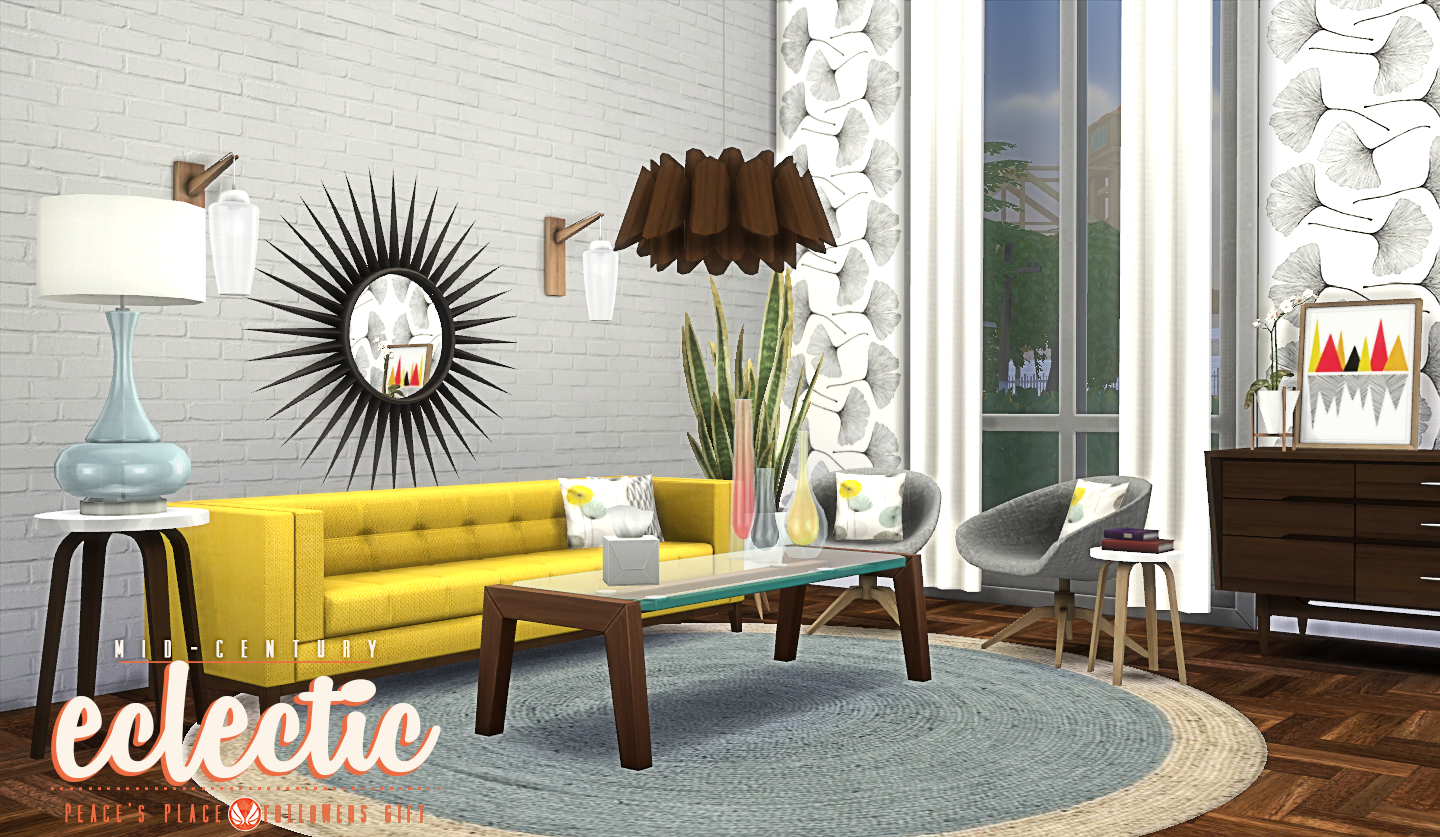 Mid Century Eclectic Objects by Peacemaker IC Teh Sims : MidCenturyEclectic styles 01 from tehsims.com size 1440 x 837 png 1730kB