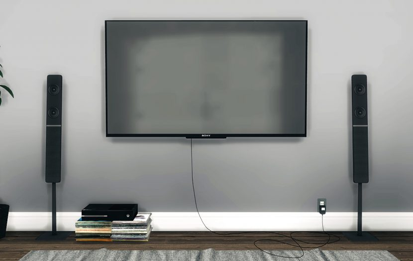 Sony Wall Mounted Tv By Mxims Liquid Sims