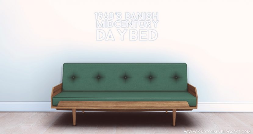 1960 39 s danish mid century daybed by onyx teh sims for Sofa bed sims 4