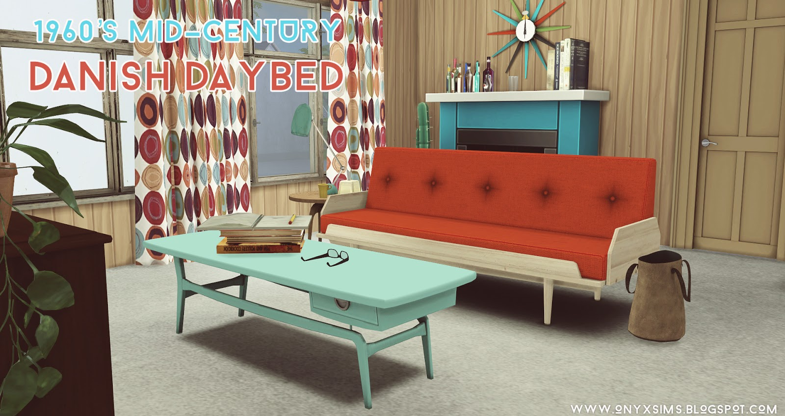 1960 S Danish Mid Century Daybed By Onyx Liquid Sims