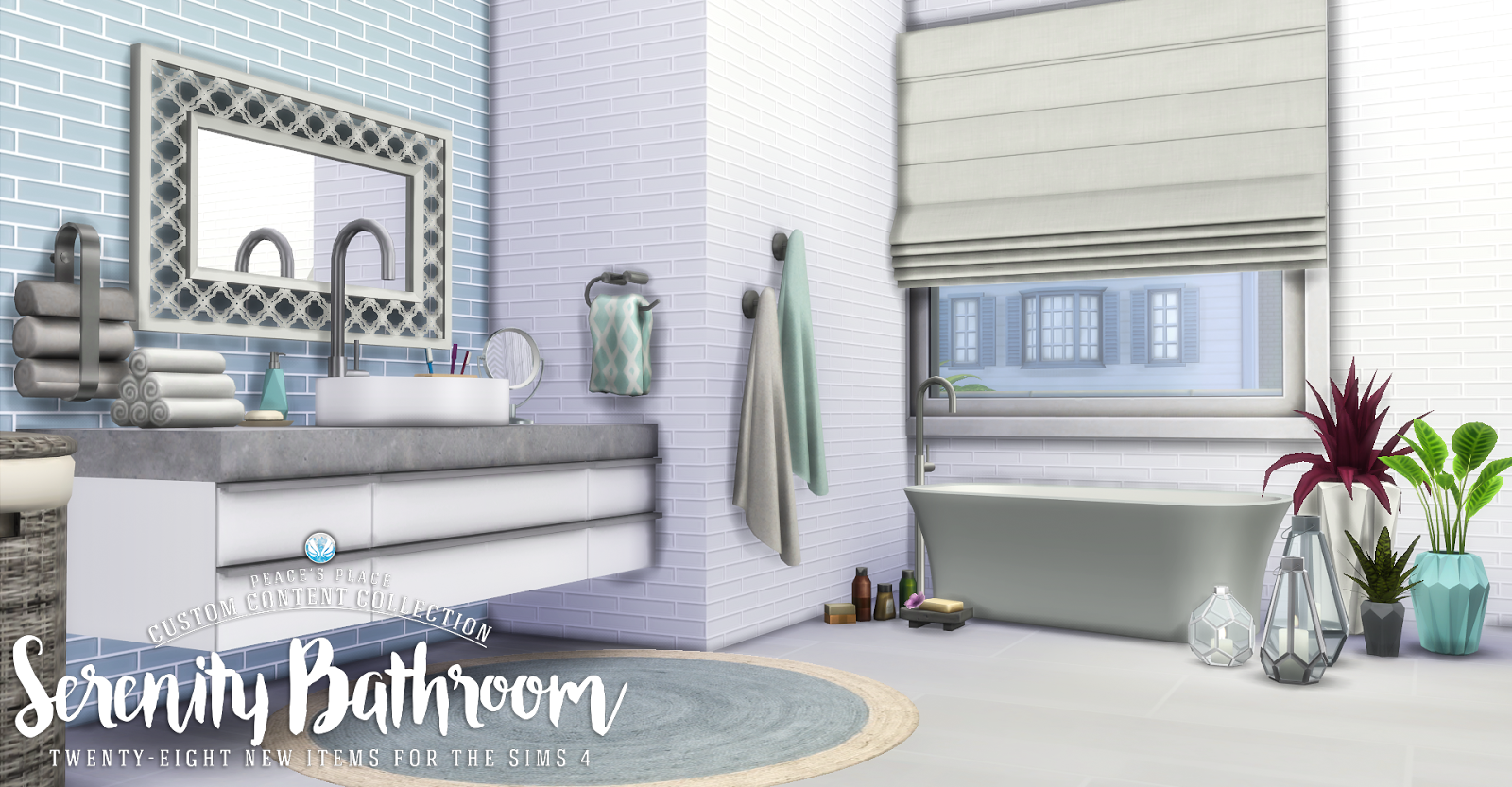 Gaudium bathroom at simcredible designs 4 image 2006 670x397 sims 4 -  10 Best Bathroom Sets For The Sims 4 Teh Sims