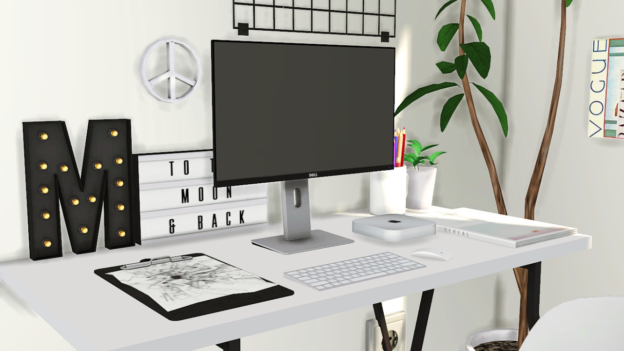 Dell U2414h Monitor Desk Clutter By Mxims Liquid Sims