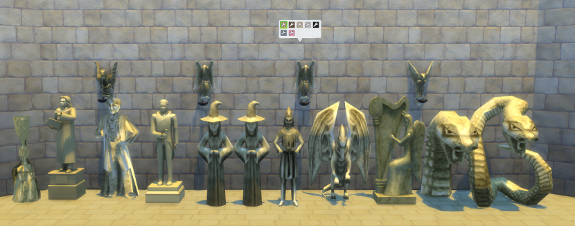 The Sims 4 Snake Thigh Tatoo: Hogwarts Statues By JPCope