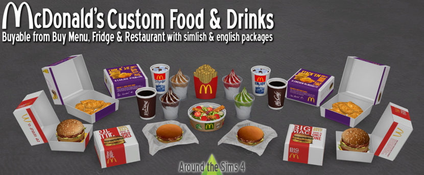 Mcdonalds Custom Food Amp Drinks By Sandy Liquid Sims
