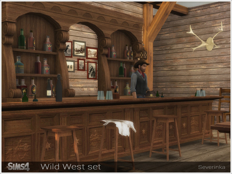 Wild West Bar Set By Severinka Liquid Sims