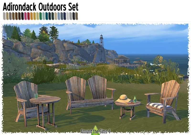 Adirondack Outdoor Set By Sandy Liquid Sims